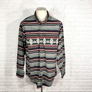Woolrich | Mens Striped Flannel Button Up Shirt